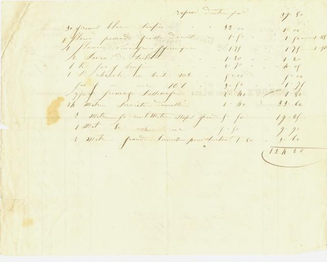 Diverses factures à Ch. E. Fleuret entre 1847 et 1859 Factur13