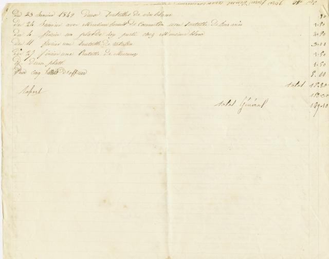 Diverses factures à Ch. E. Fleuret entre 1847 et 1859 Notes_11