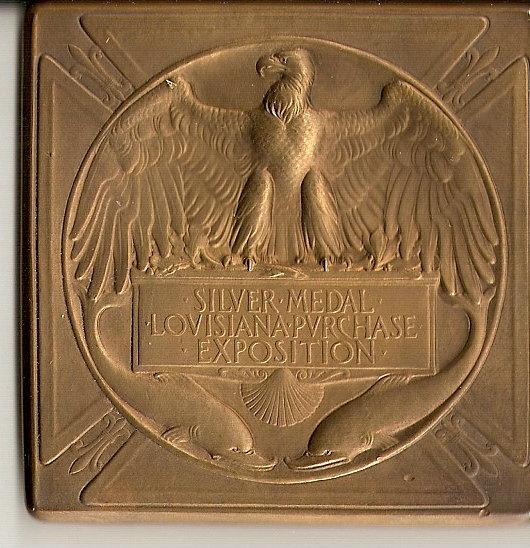 Dos de cette même médaille de 1904 - SAINT LOUIS Dos_de11