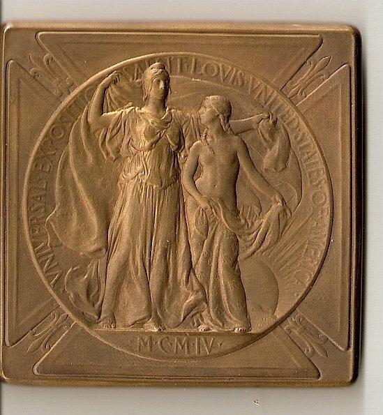 Médaille d'argent rapportée par mon grand-père à l'exposition de 1904 à SAINT LOUIS Medail10