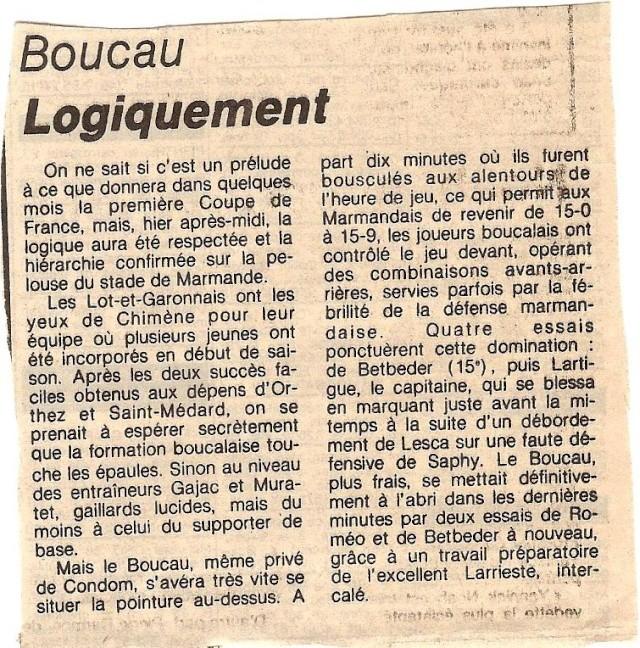1984.... un 3ème Challenge de l'Espérance Marman11