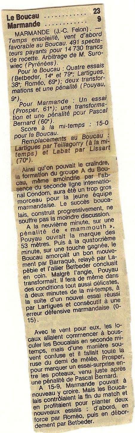 1984.... un 3ème Challenge de l'Espérance Marman12