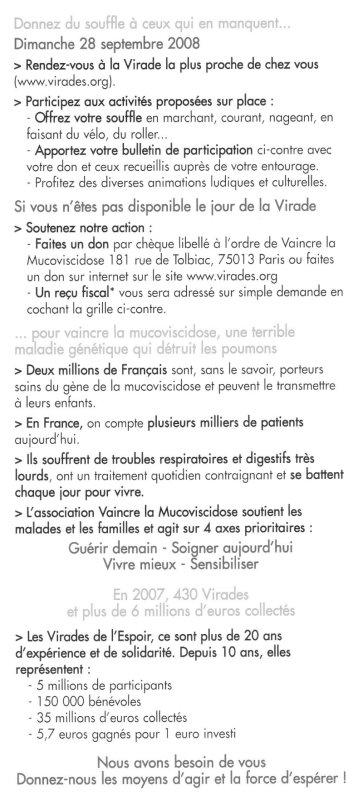 Le VMA se mobilise contre la mucoviscidose Virade12