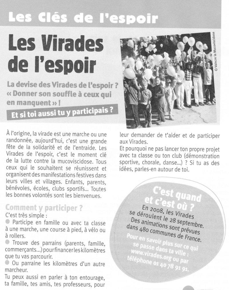 Le VMA se mobilise contre la mucoviscidose Virade14