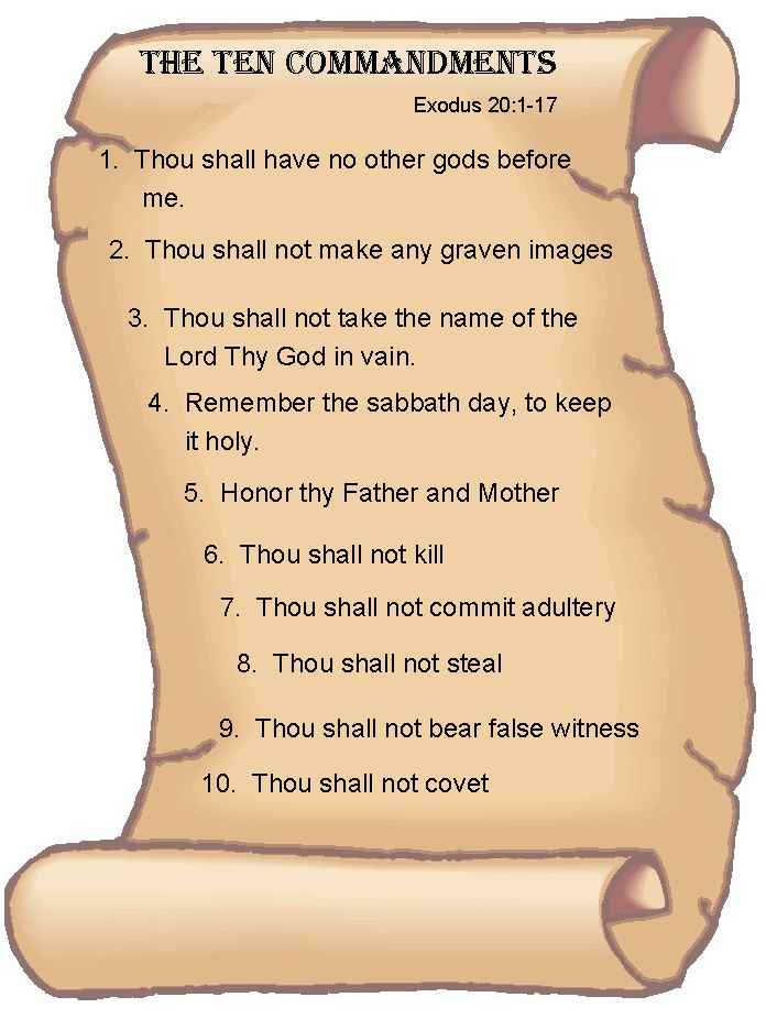 THE TEN COMMANDMENTS 10comm10