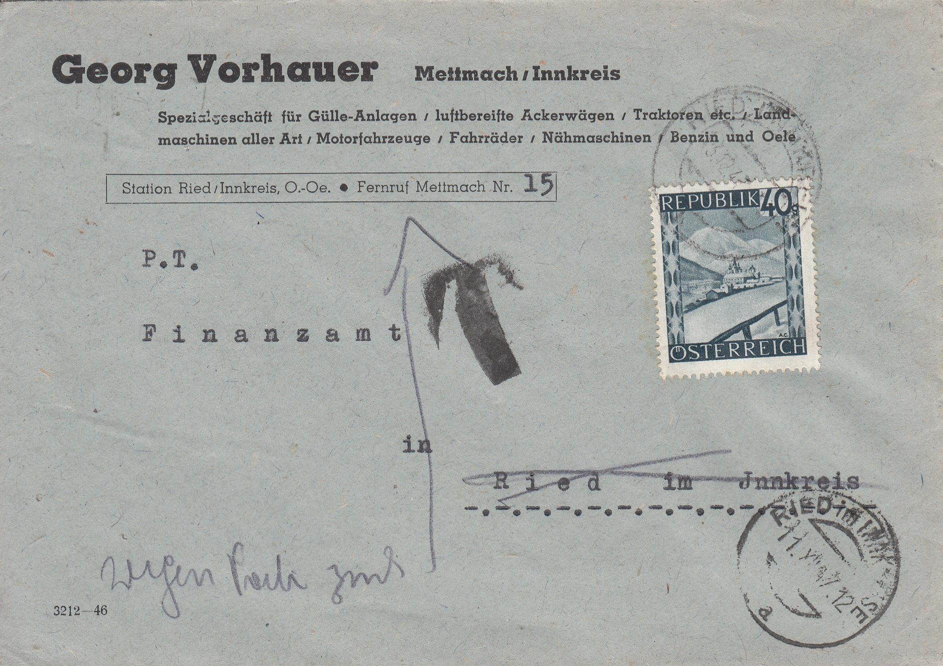 Österreich 2. Währungsreform 10.12.1947 - Belege Img111