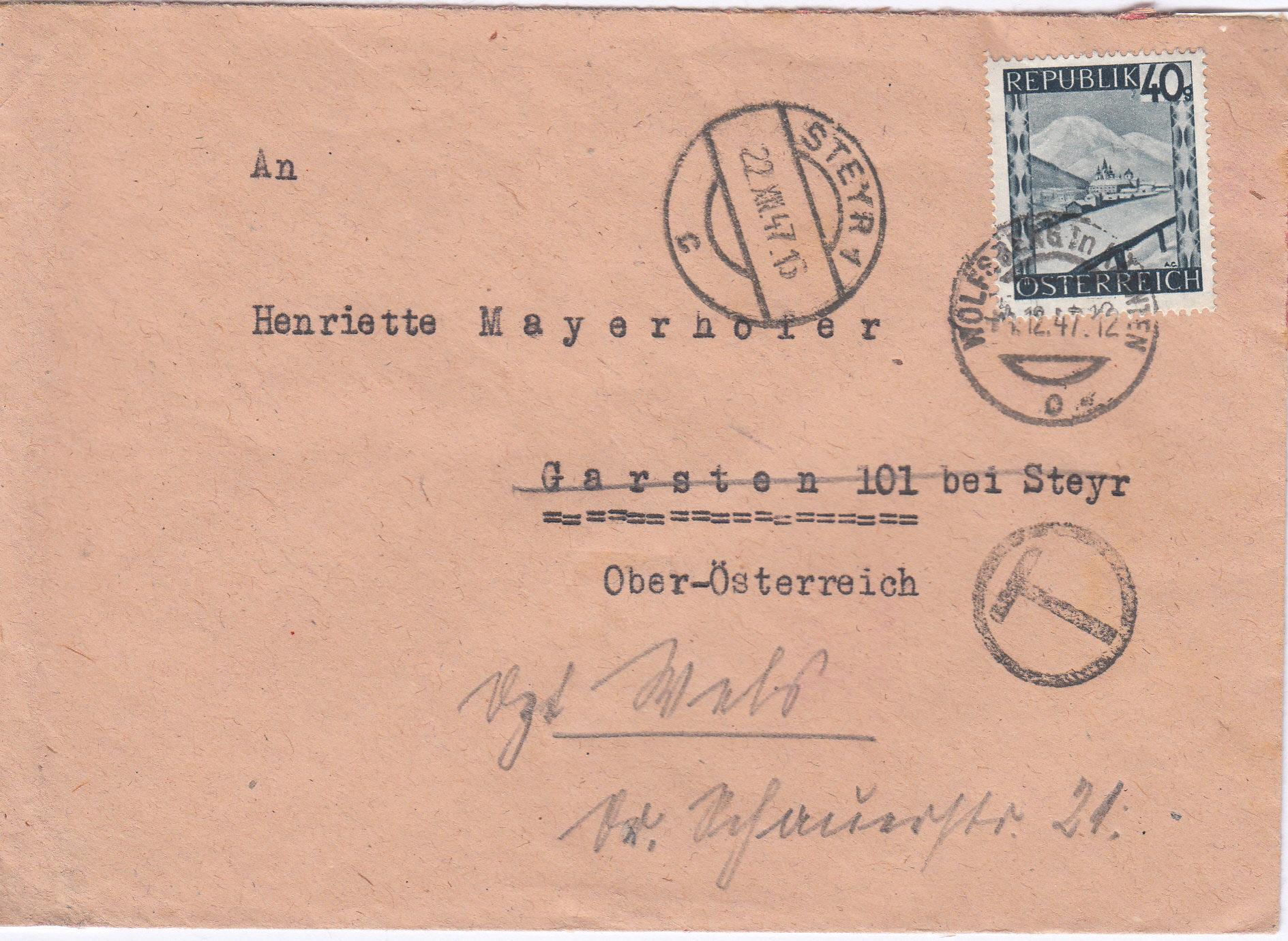 Österreich 2. Währungsreform 10.12.1947 - Belege Img141