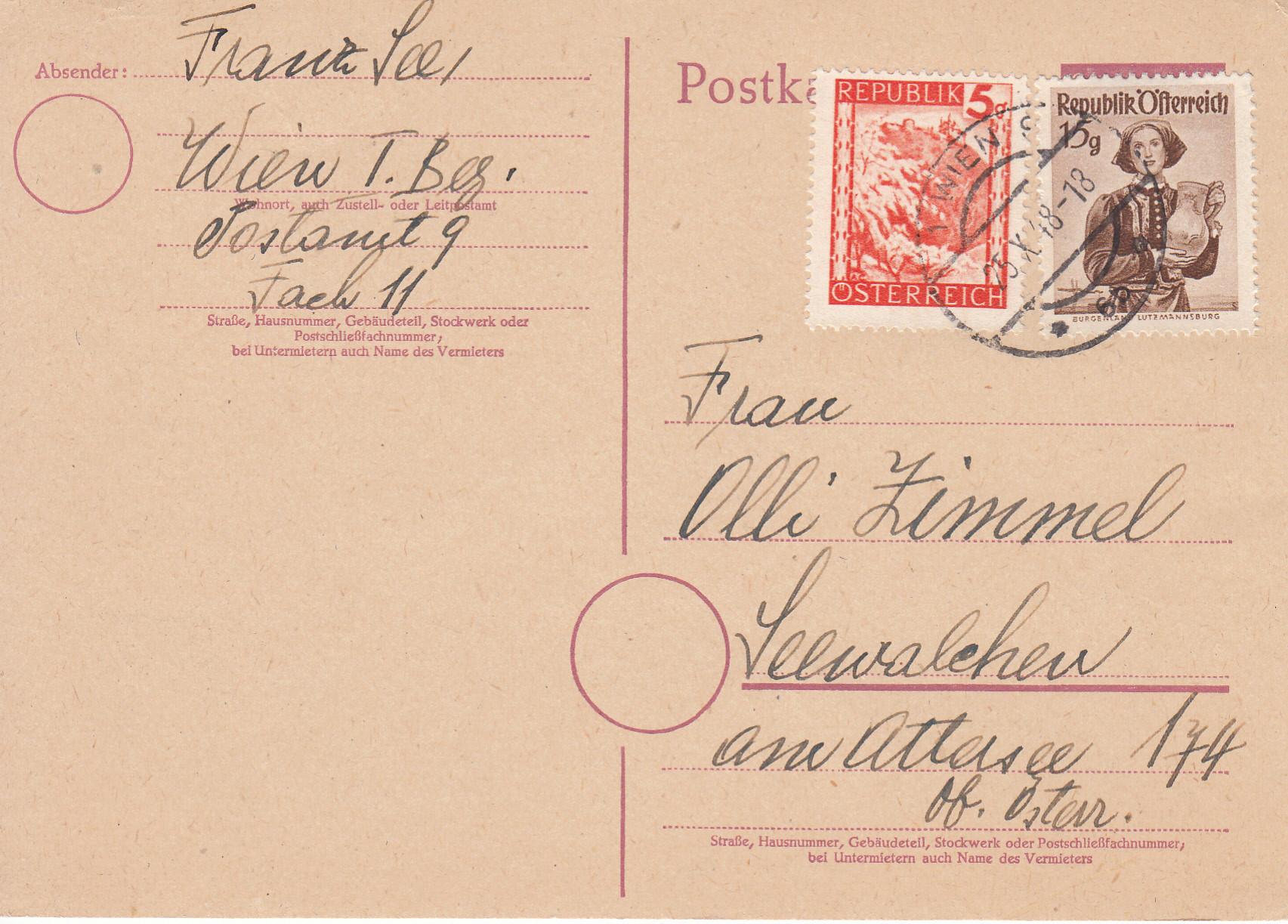 Notmaßnahmen und Provisorien bei Postkarten 1945-1948 Img144