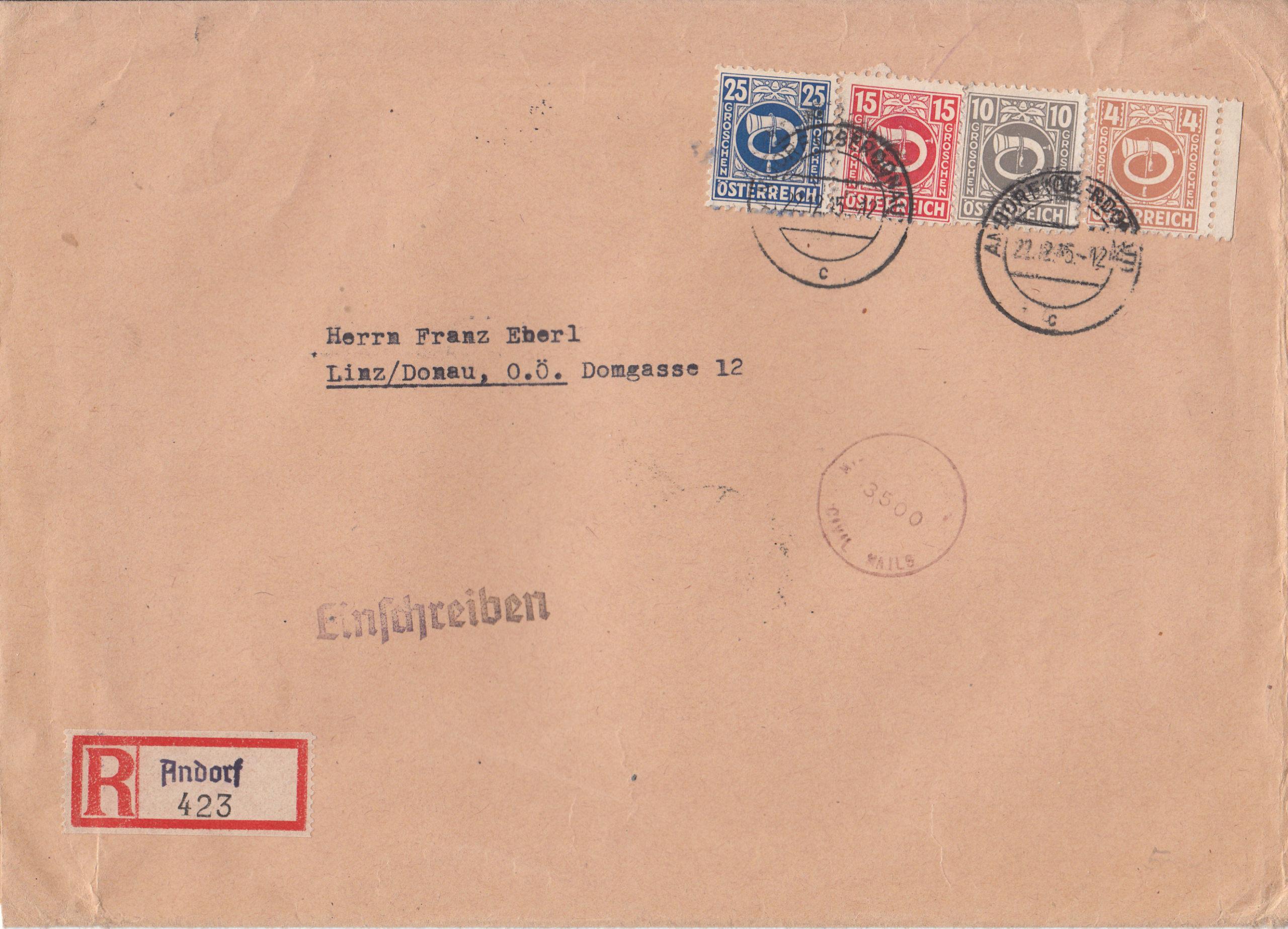 Posthornzeichnung  -  ANK 697-713  -  Belege - Seite 4 Img157