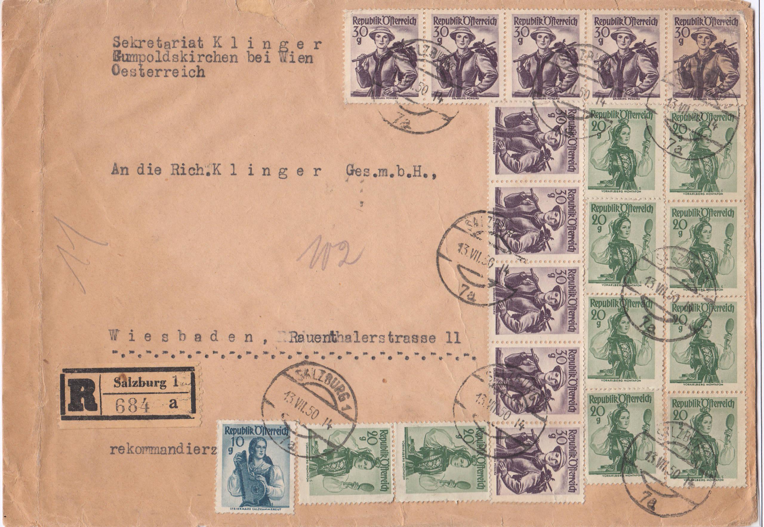 Trachtenserien ANK 887 - 923 und 1052 - 1072 Belege - Seite 12 Img178