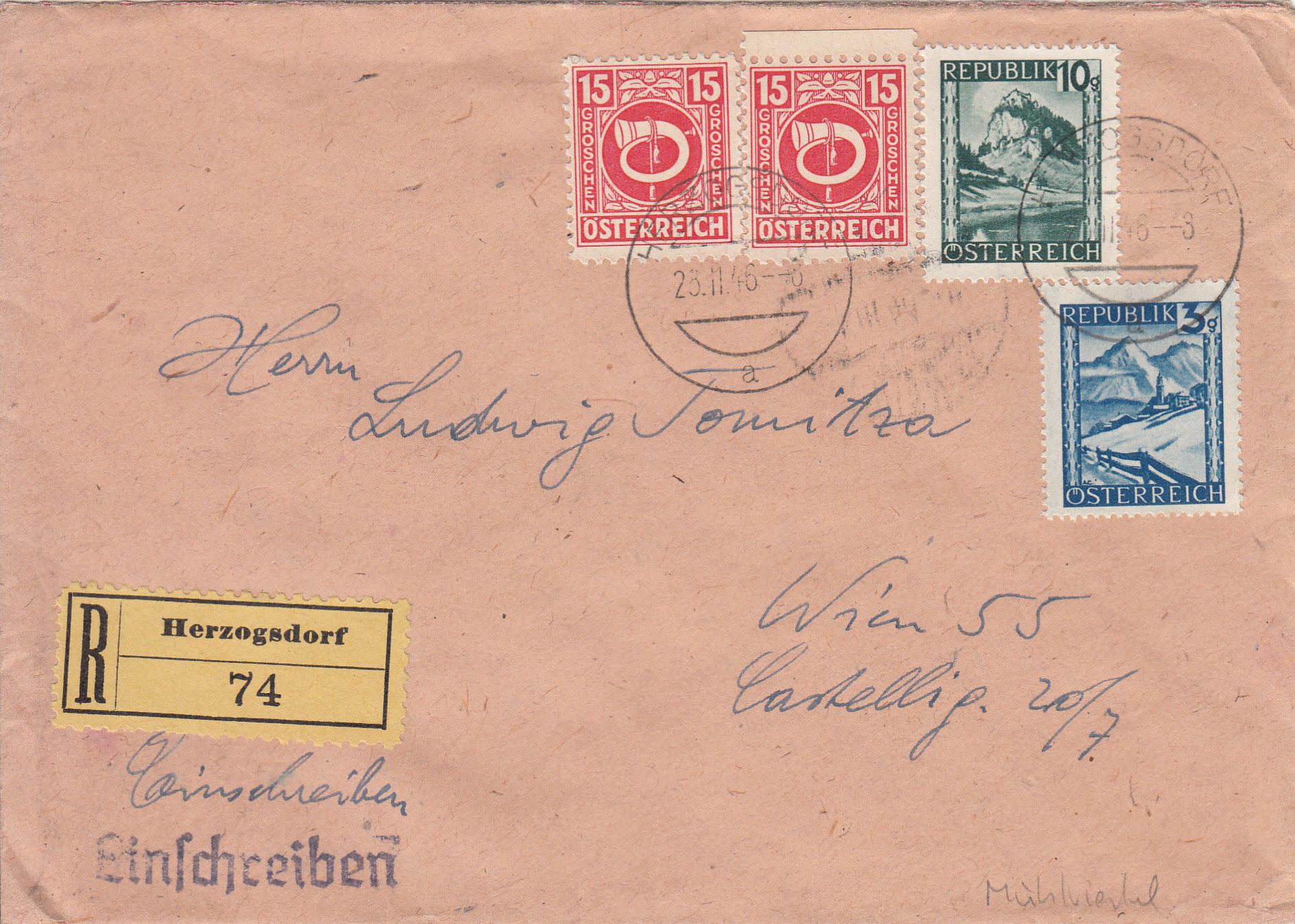 Posthornzeichnung  -  ANK 697-713  -  Belege - Seite 4 Img217