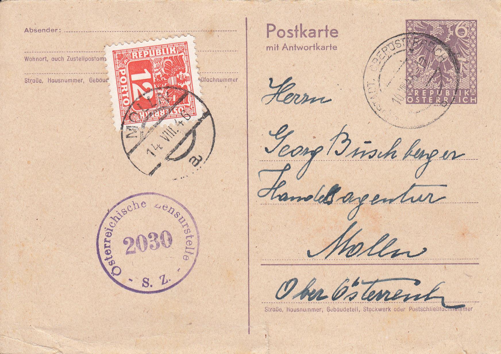 Wappenzeichnung  -  ANK 714-736 - Belege - Seite 5 Img221