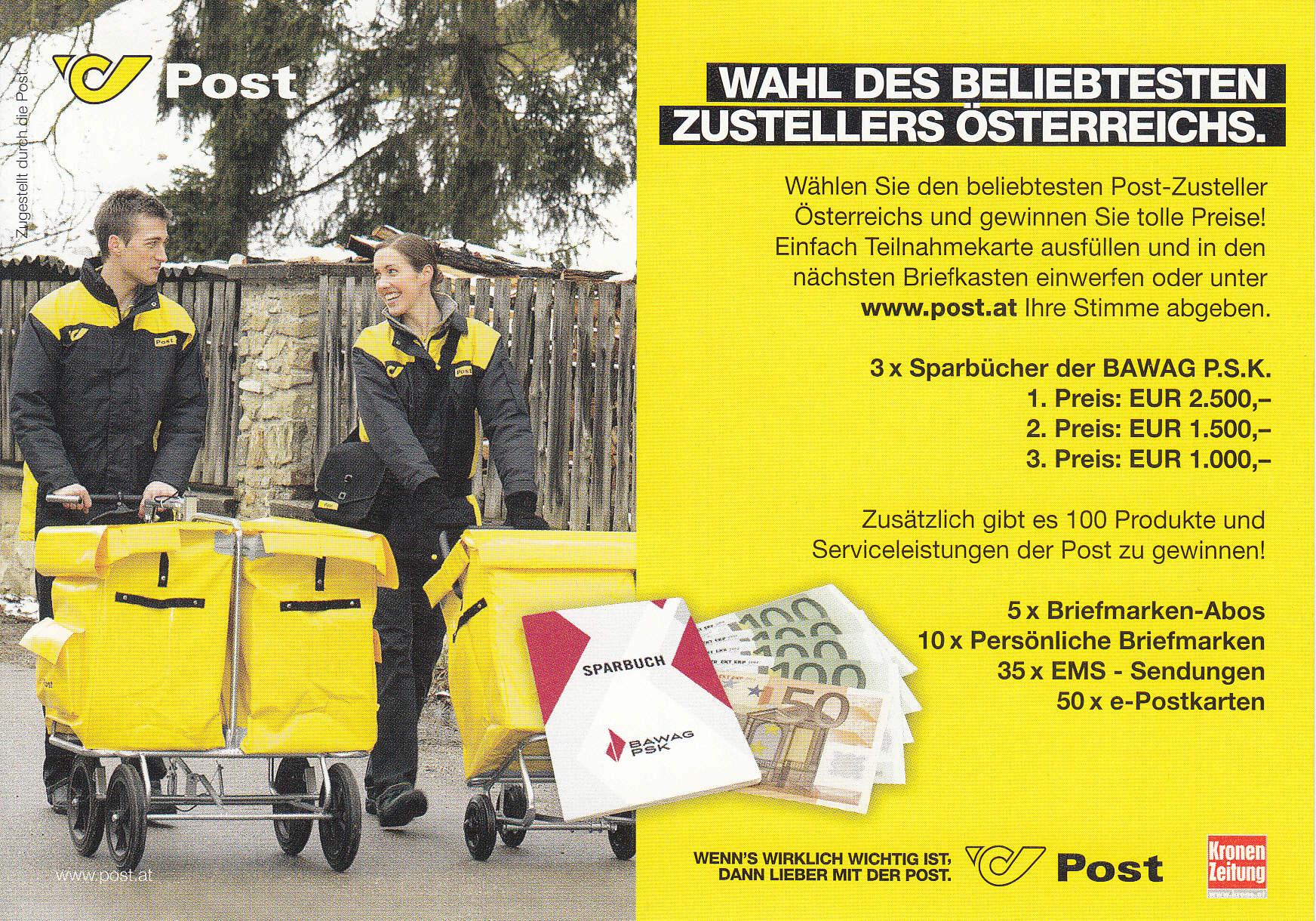 Postdienst – Service des postes - Postdienstkarten - Österreich Img223