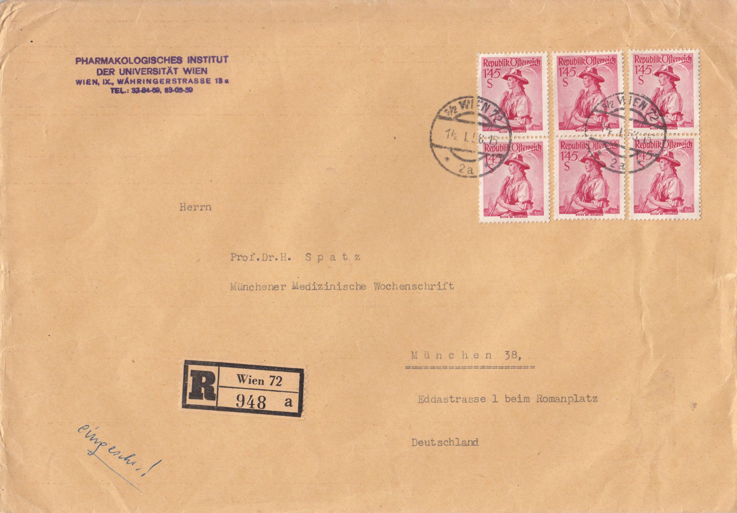 Trachtenserien ANK 887 - 923 und 1052 - 1072 Belege - Seite 12 Img263