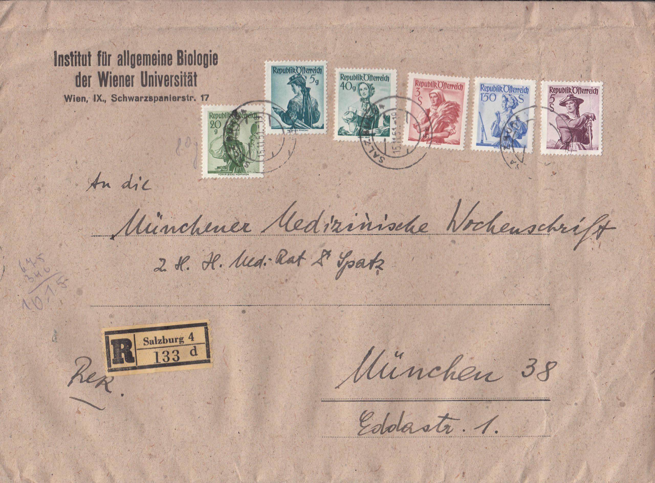 Trachtenserien ANK 887 - 923 und 1052 - 1072 Belege - Seite 12 Img269