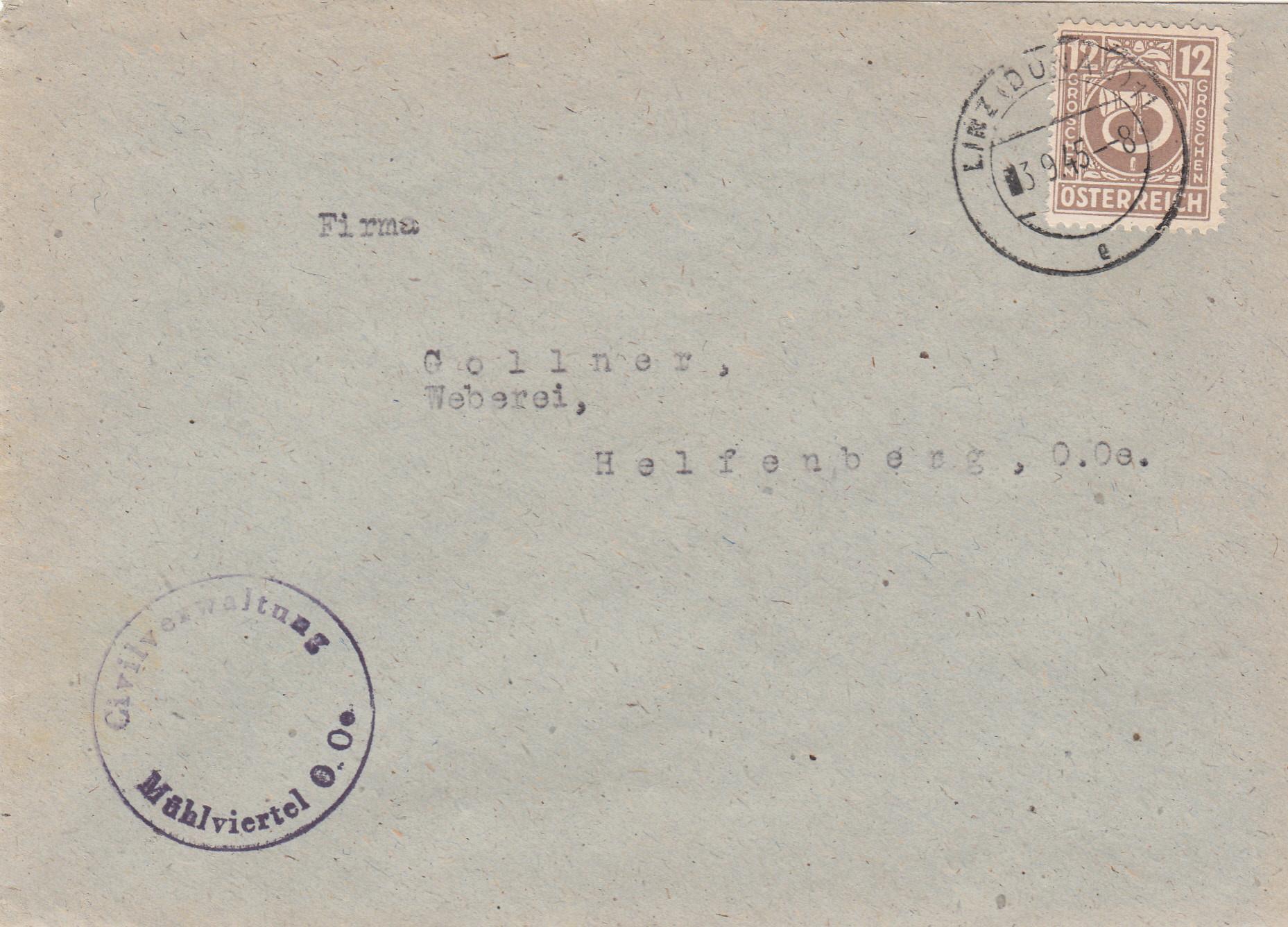 Posthornzeichnung  -  ANK 697-713  -  Belege - Seite 4 Img288