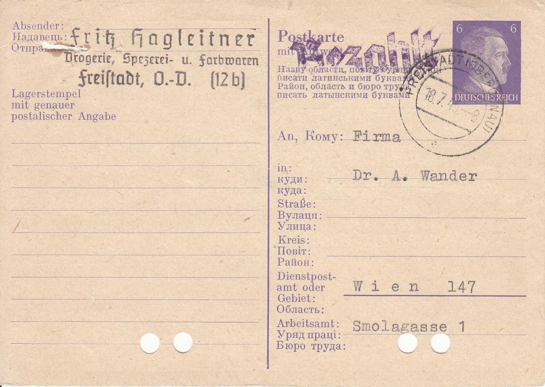 Notmaßnahmen und Provisorien bei Postkarten 1945-1948 - Seite 2 Img291