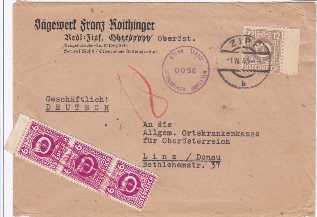 Posthornzeichnung  -  ANK 697-713  -  Belege - Seite 4 Img44
