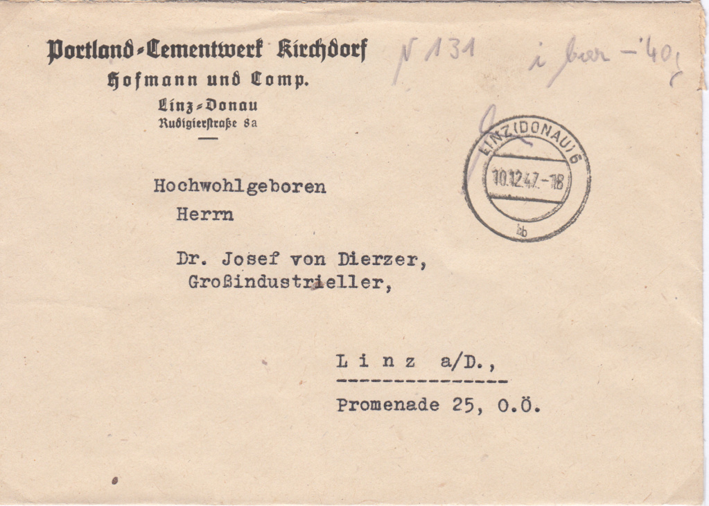 Österreich 2. Währungsreform 10.12.1947 - Belege Img53