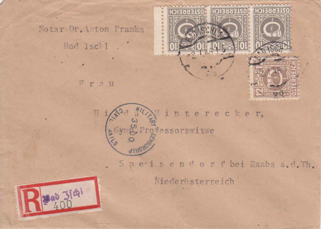 Posthornzeichnung  -  ANK 697-713  -  Belege - Seite 4 Img71