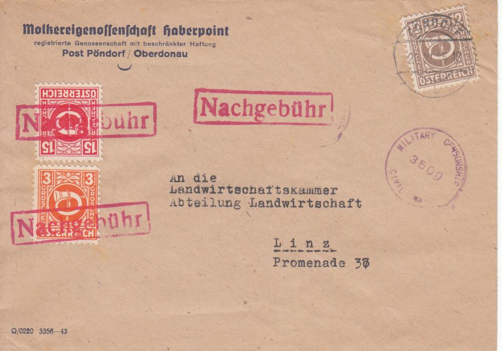 Posthornzeichnung  -  ANK 697-713  -  Belege - Seite 4 Img_0051
