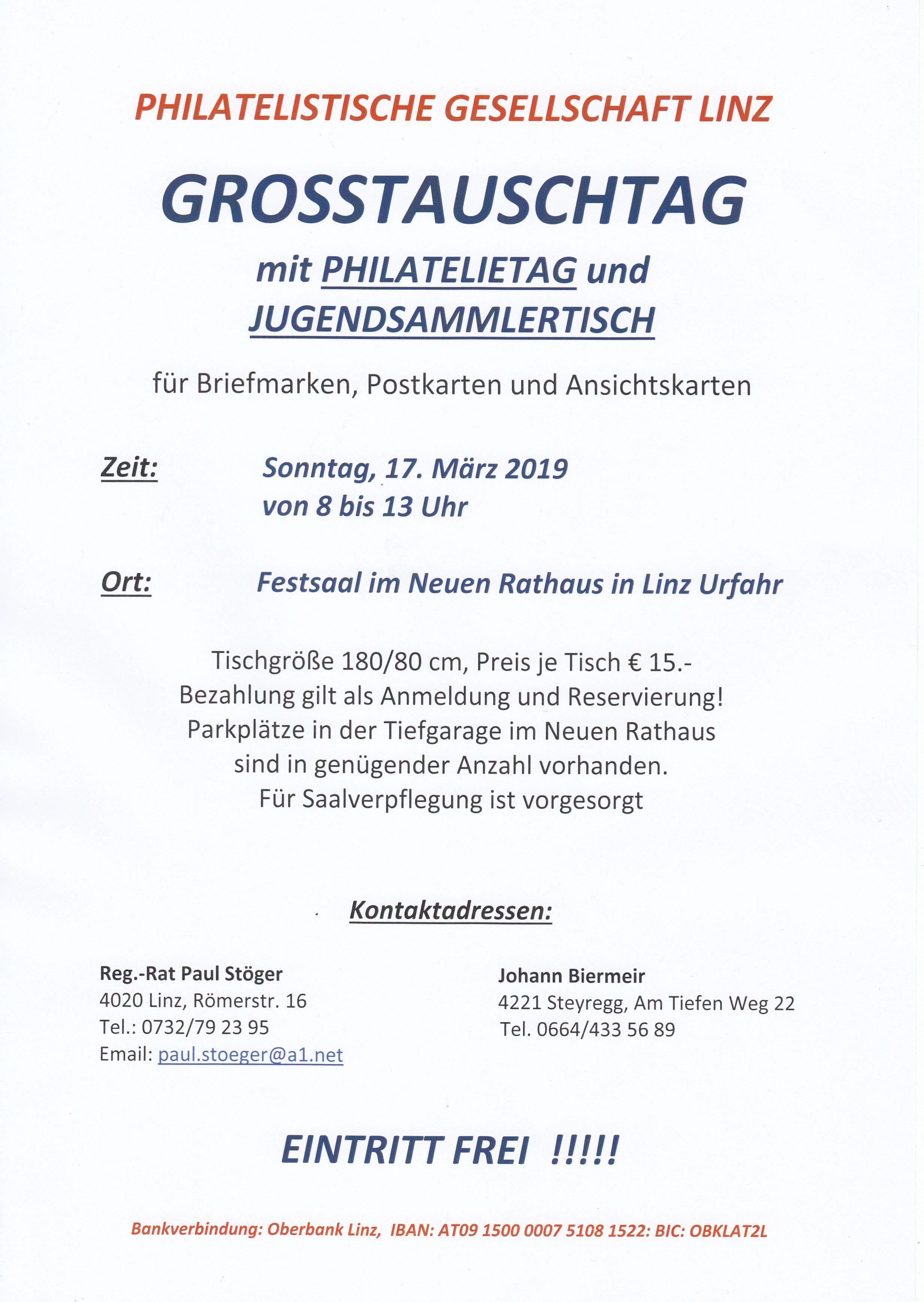 Grosstauschtag mit Werbeschau in Linz 16.und 17.03.2019 Img_0157