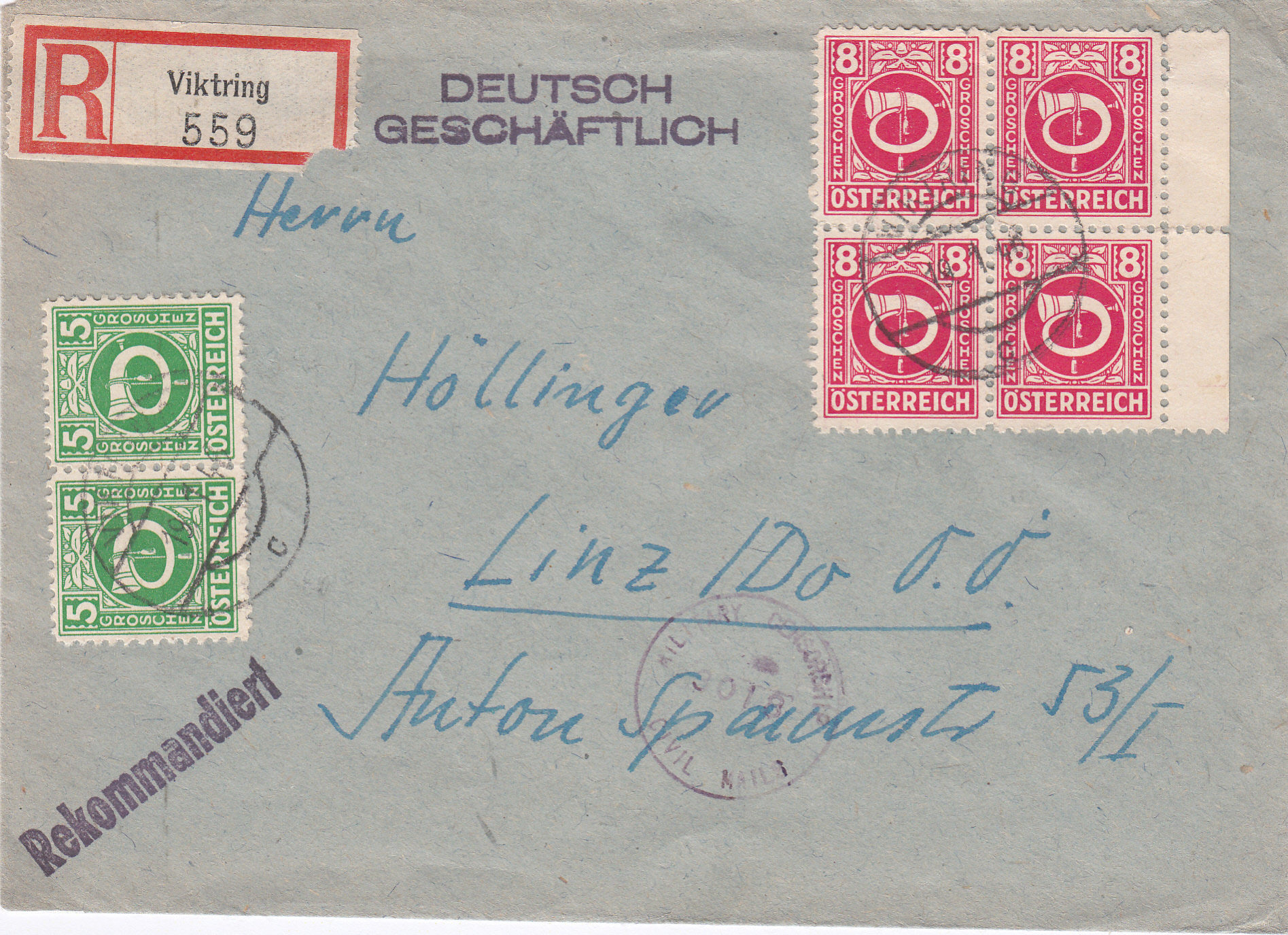 Posthornzeichnung  -  ANK 697-713  -  Belege - Seite 4 Img_0226