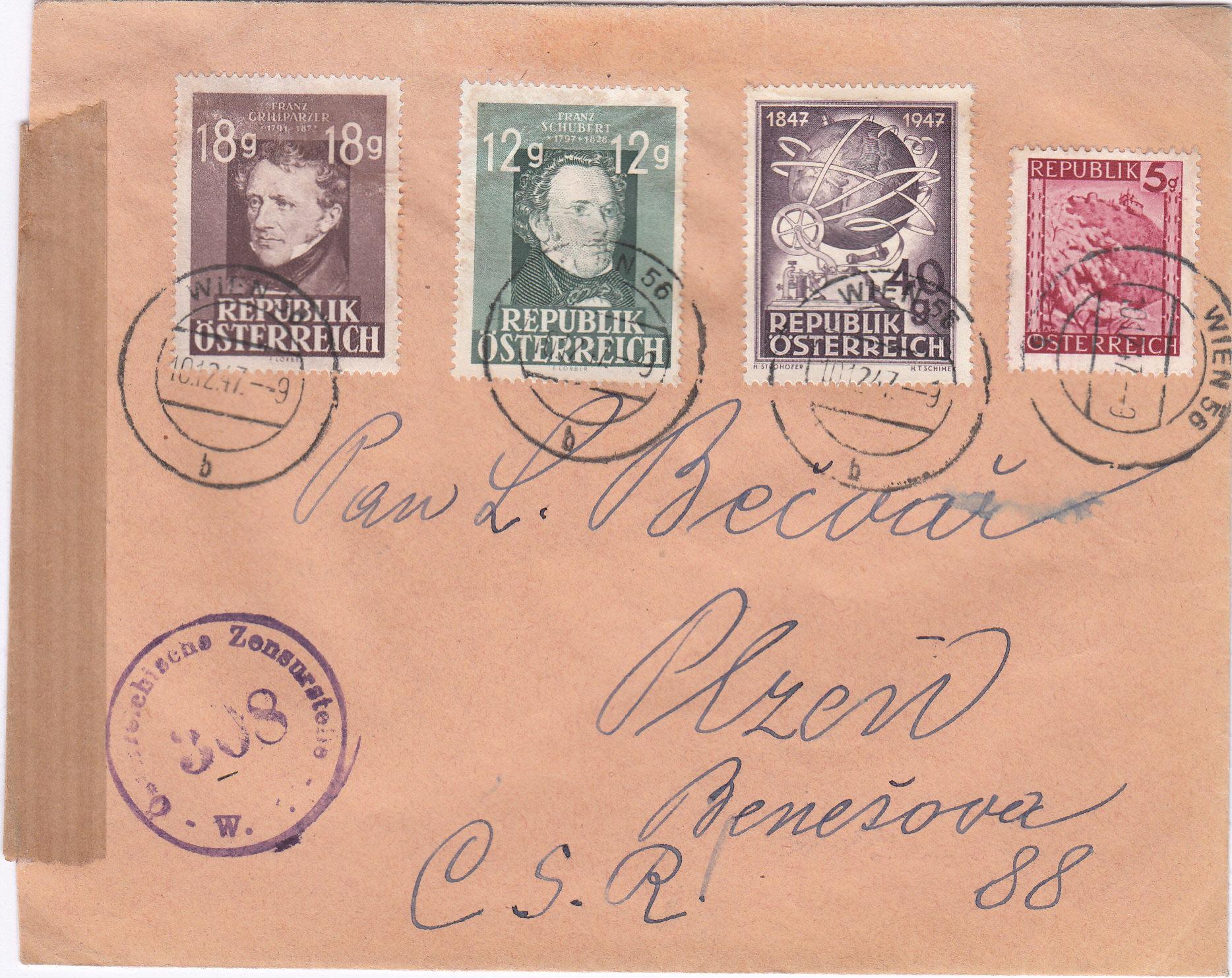 Österreich 2. Währungsreform 10.12.1947 - Belege Img_0289