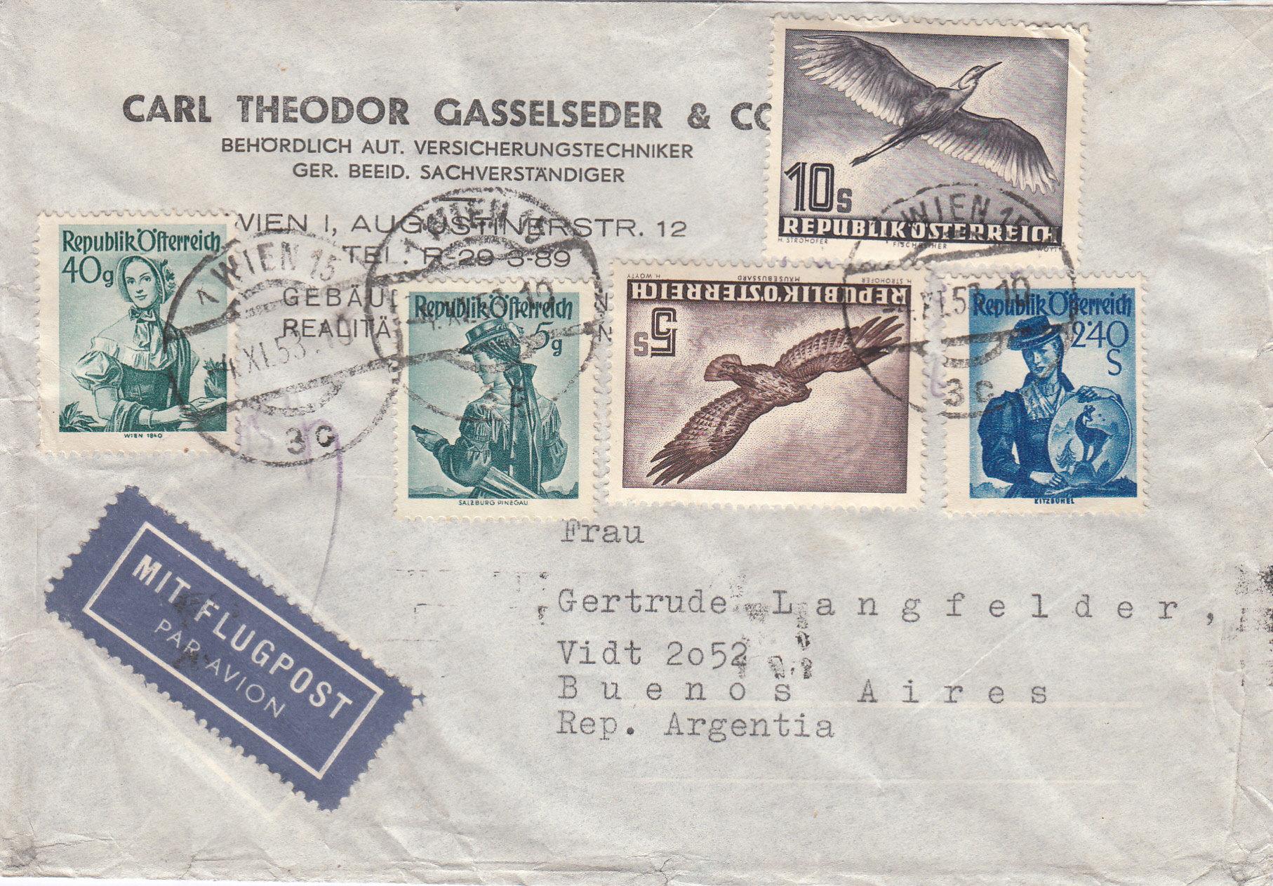 Flugpostserie II Heimische Vogelwelt in Stadt und Land - Vögel Img_0310