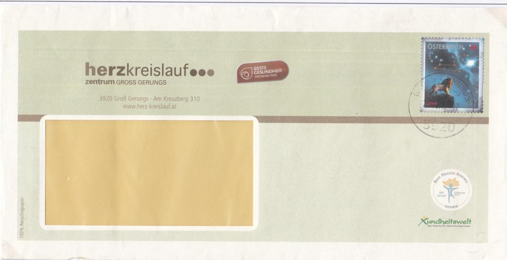 Freimarken Tierkreiszeichen/Sternbilder - Belege Img_0362