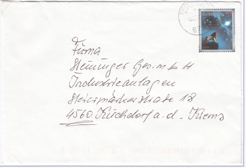 Freimarken Tierkreiszeichen/Sternbilder - Belege Img_0363