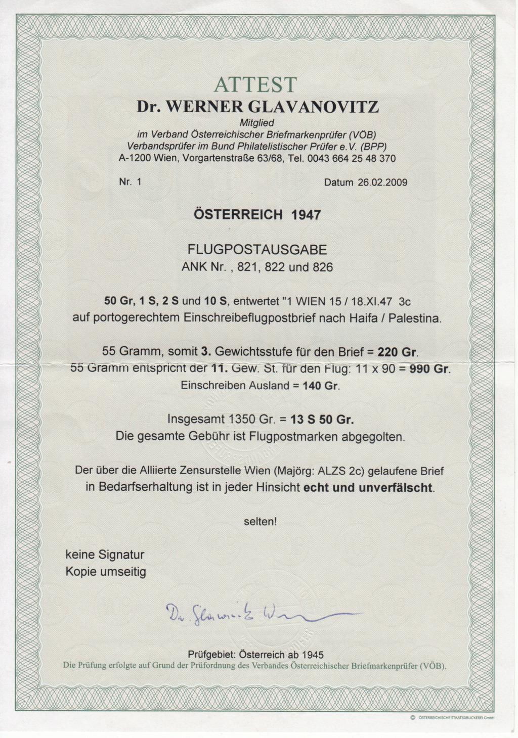 Flugpostausgabe 1947 Img_0391