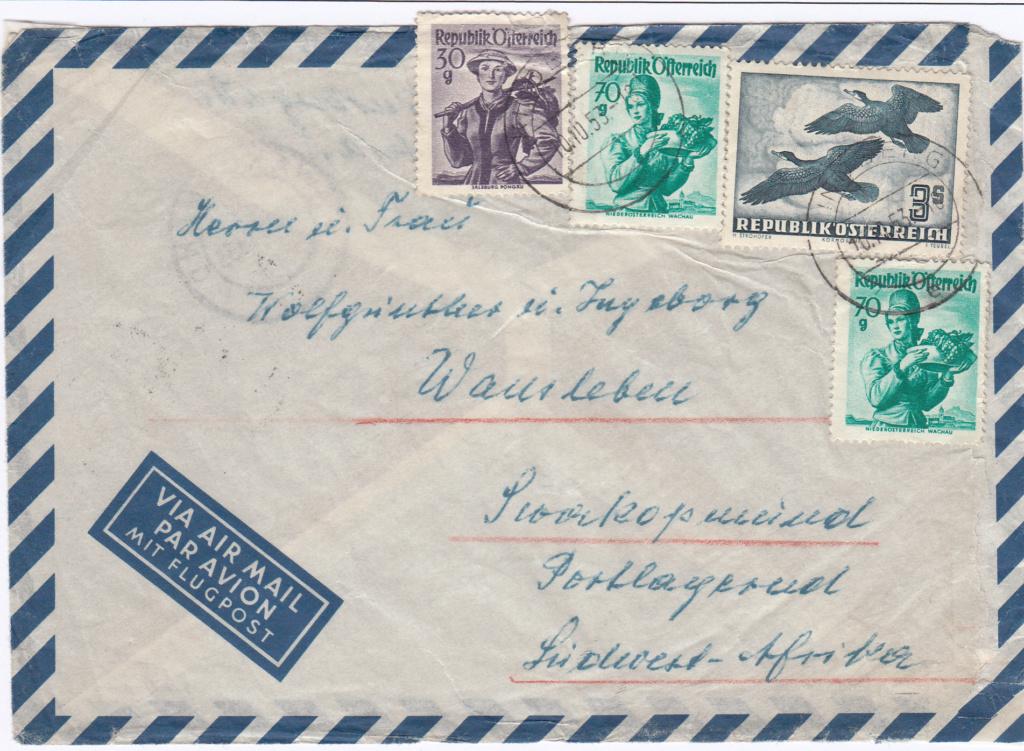 Flugpostserie II Heimische Vogelwelt in Stadt und Land - Vögel Img_0398