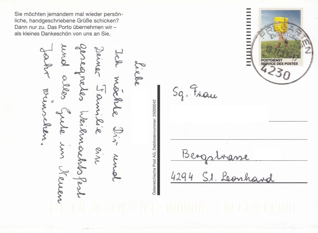 Postdienst – Service des postes - Postdienstkarten - Österreich Img_0430