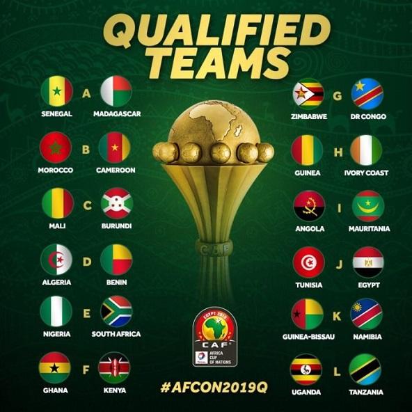 CAN 2019 : Liste des 24 qualifiés pour l'Egypte  D2ch8310