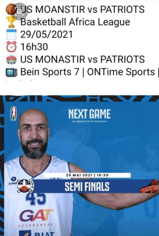 Basketball Africa league demi finale USM - Patriots Screen31