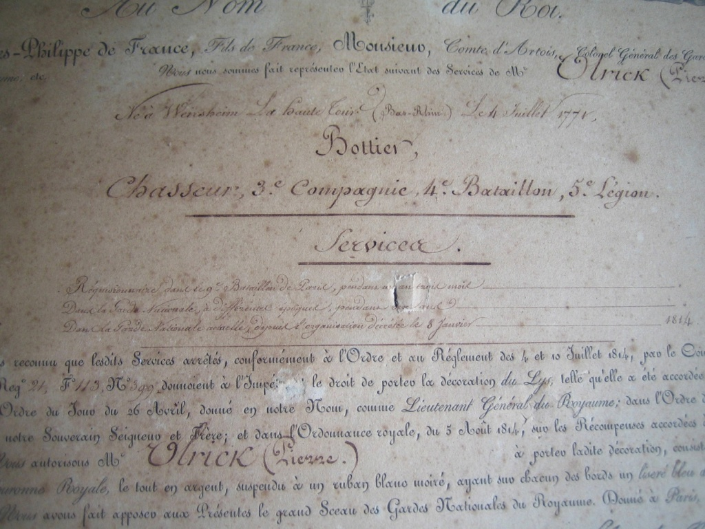 Diplôme Ordre du Lys et photos Img_3375