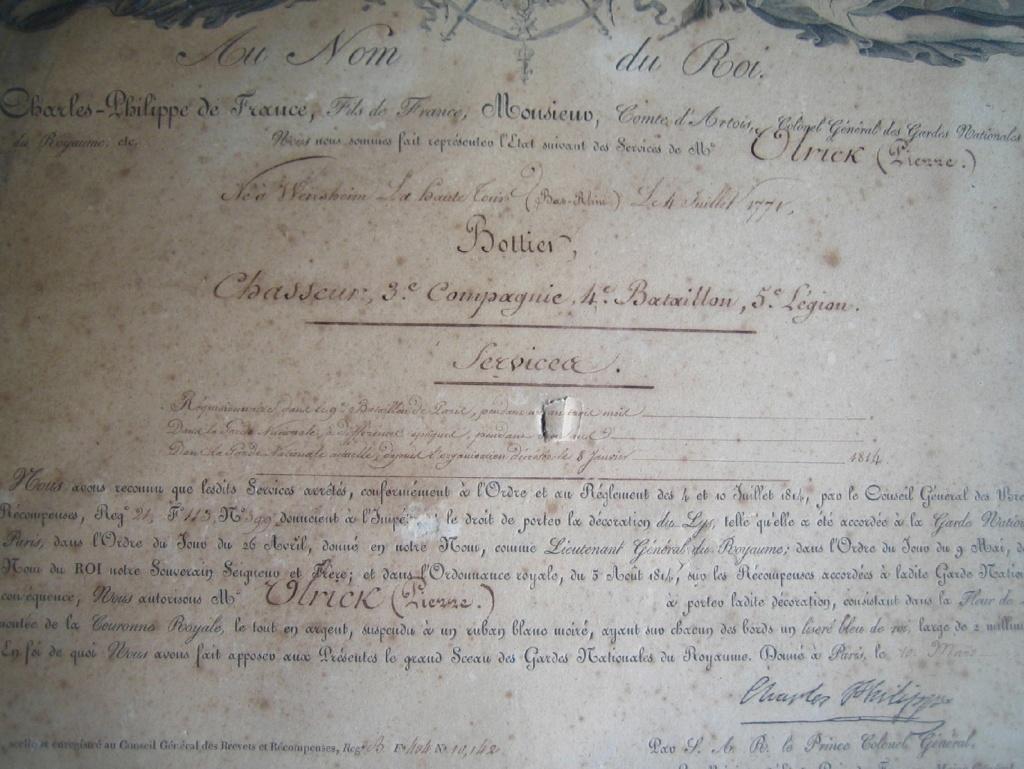 Diplôme Ordre du Lys et photos Img_3380