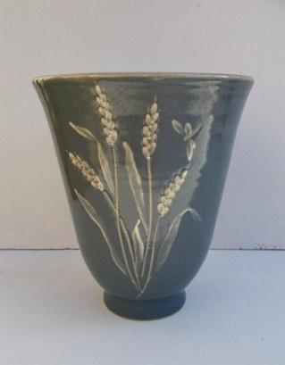 interesting studio vase signed Lydia Barge Img_2010