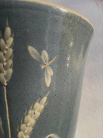 interesting studio vase signed Lydia Barge Img_2011