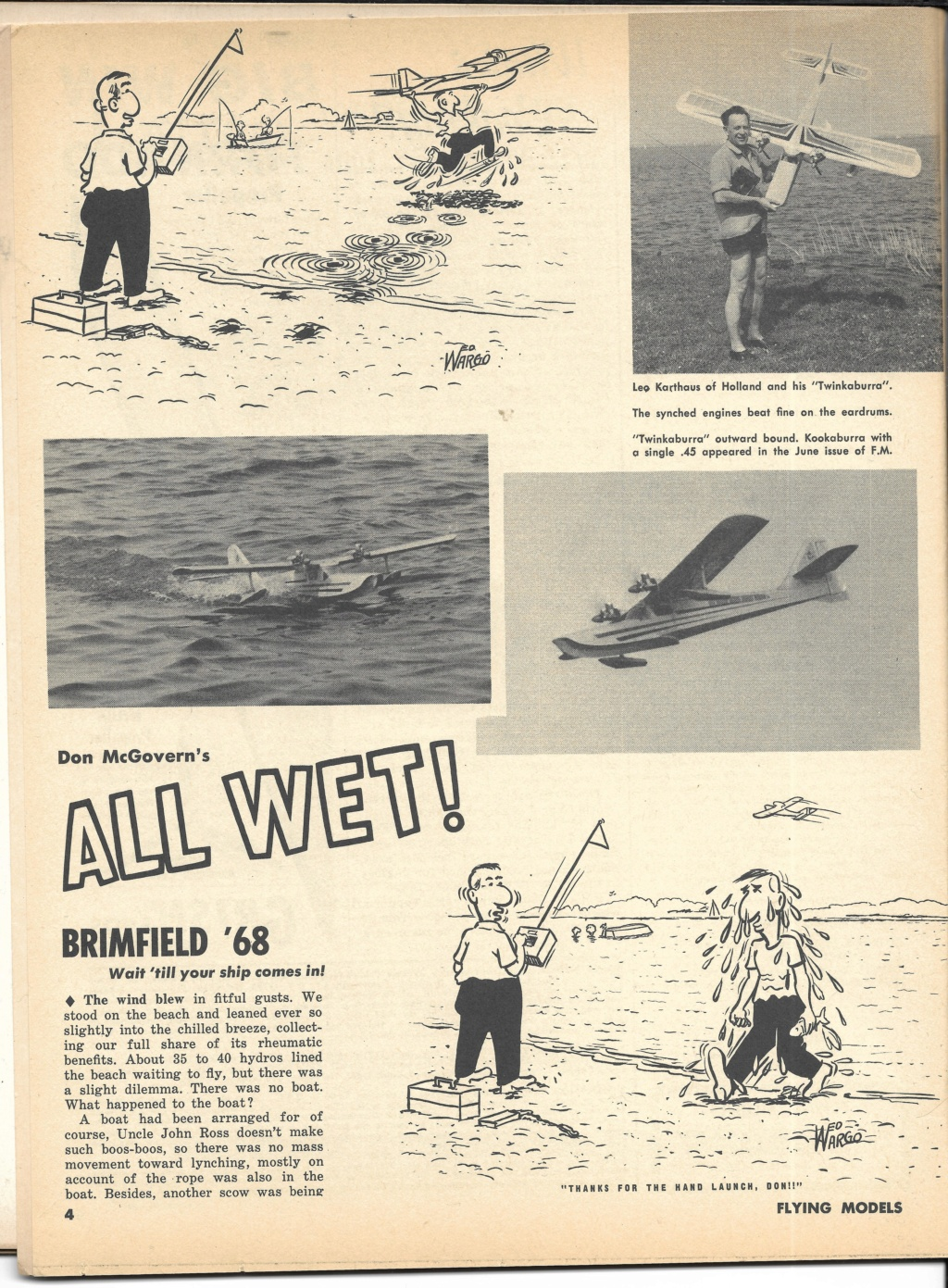 "Old Magazine Morning...""Another Model Airplane Hero"": Don McGovern's 'All Wet' column Flying Models 8/68 - Page 2 0_22"