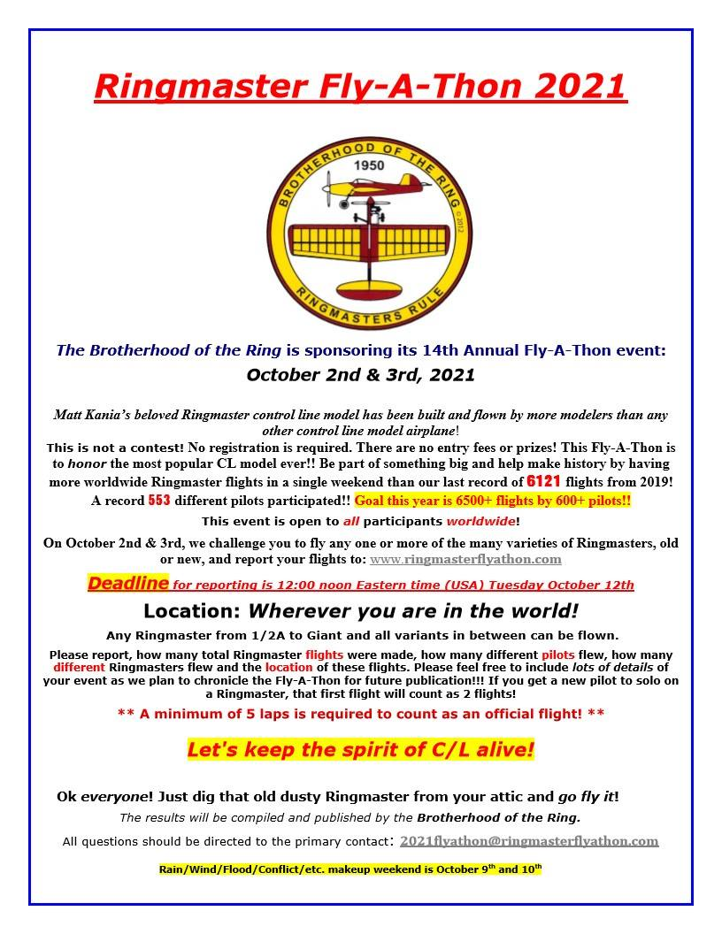 Annual Worldwide Ringmaster Fly-A-Thon  October 2nd & 3rd 2021_f10