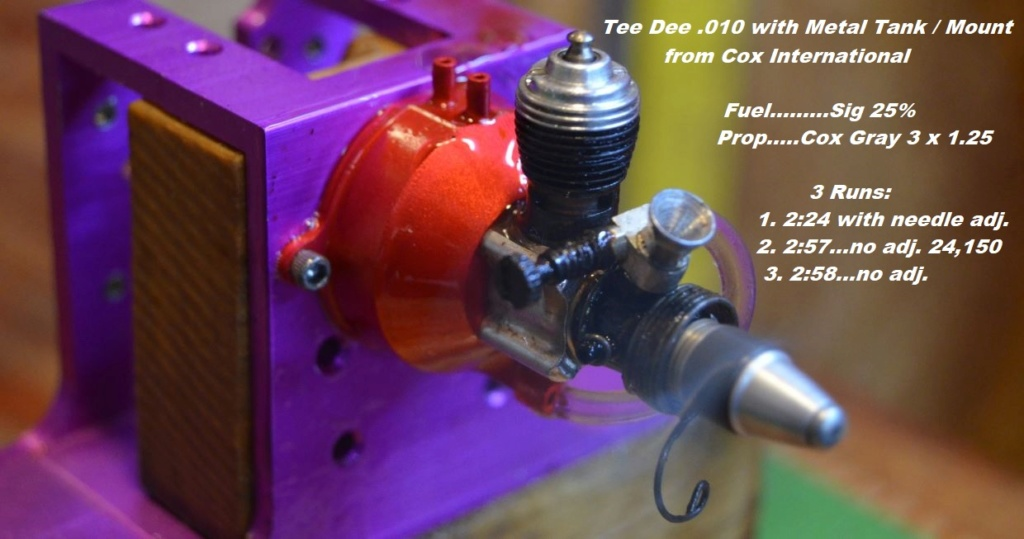 Run Times on Tank/Mounts for Tee Dee .020 and .010 2_411