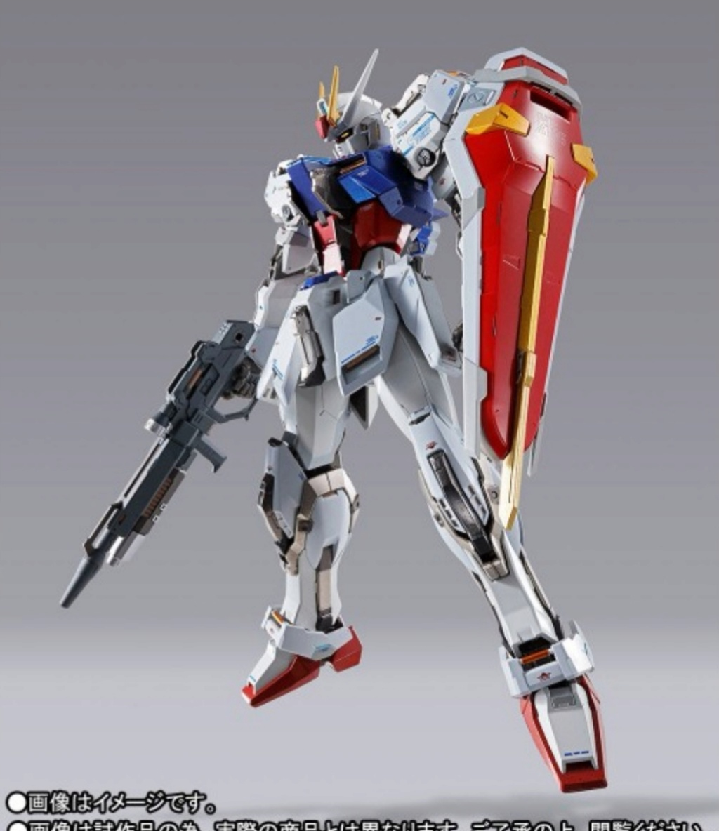 Strike gundam metal build infinity gundam seed.  Img_2323
