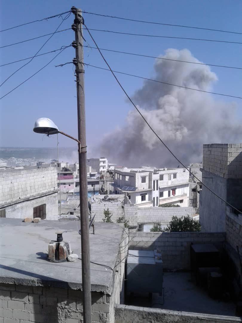 صور من مجزرة اريحا بريف ادلب ١٢/٧/٢٠١٩ 1baca010