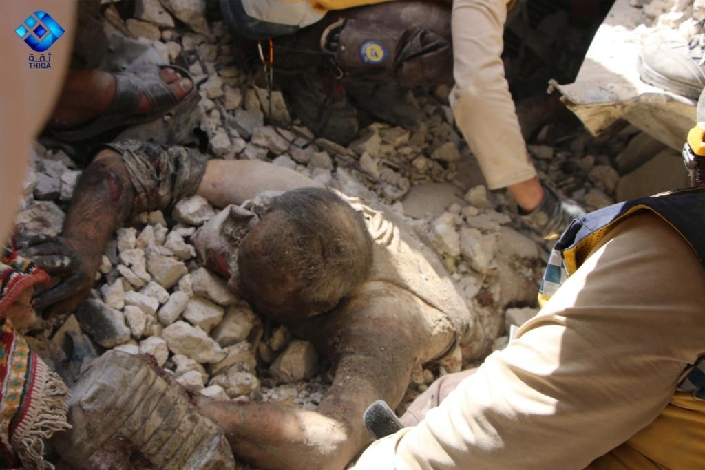 صور من مجزرة اريحا بريف ادلب ١٢/٧/٢٠١٩ 22ce8110