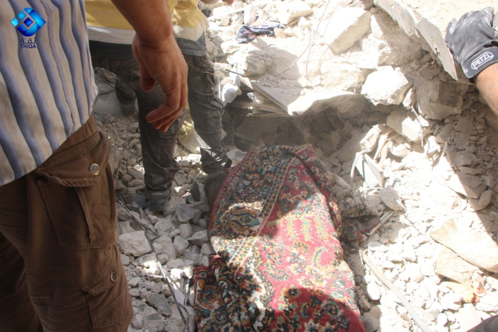 صور من مجزرة اريحا بريف ادلب ١٢/٧/٢٠١٩ 2db4de10