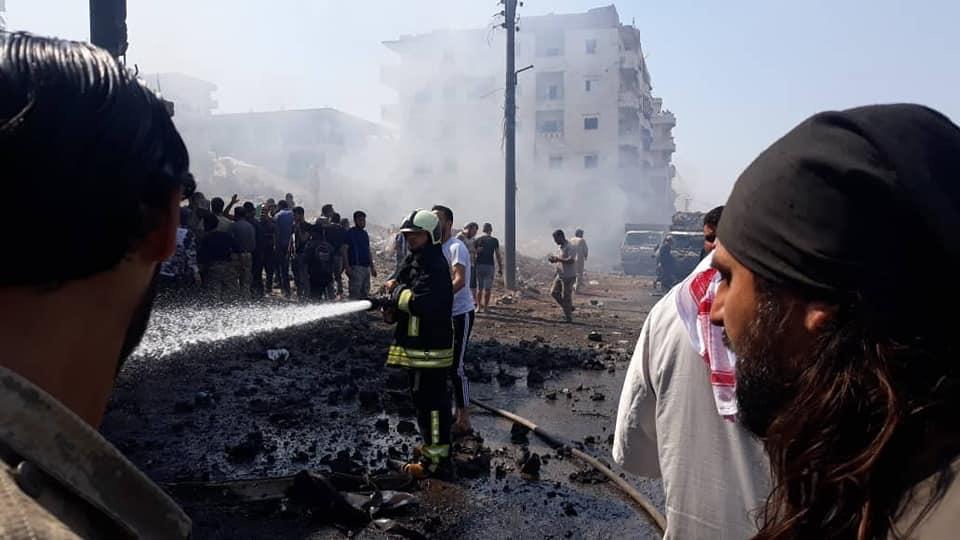 بالفيديو والصور مخففه في عفرين ١١/٧/٢٠١٩ Af15a110