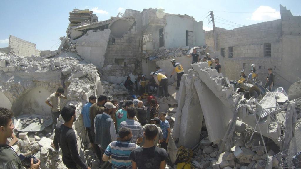 صور من مجزرة اريحا بريف ادلب ١٢/٧/٢٠١٩ C19f0510