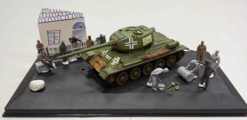 CHAR T34-85_détourné par les allemands_1944_1/72 20151110